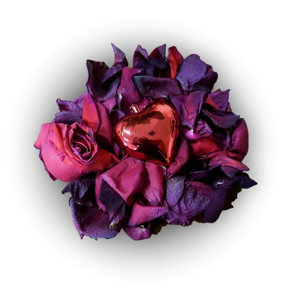 Usušené okvětní lístky růži provoněné vůní růže čistá pohoda