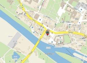mapa jak se dostanete dofirmy Čistá pohoda doPoděbrad