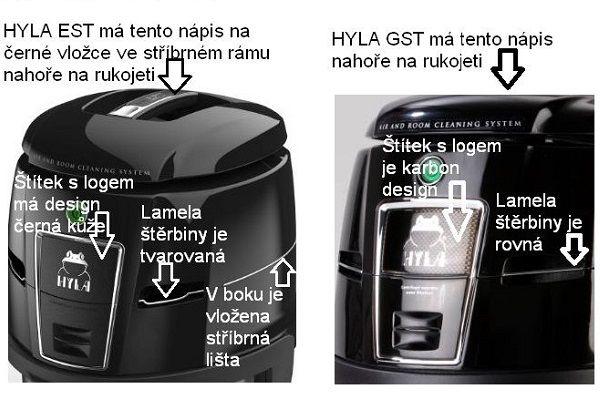 Poznejte rozdíl mezi hylou GST na kvalitnivysavac.cz a posledním modelem Hyla EST