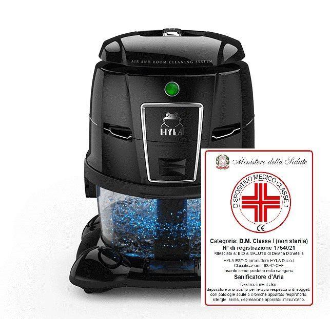 Vodní vysavač certifikovaný Ministerstvem zdravotnictví jako zdravotní prostředek Hyla
