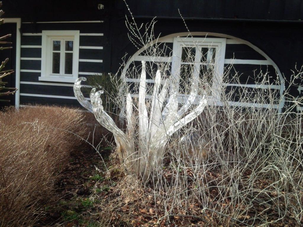 skleněná květina zahrada Jiří Pačínek Čistá pohoda