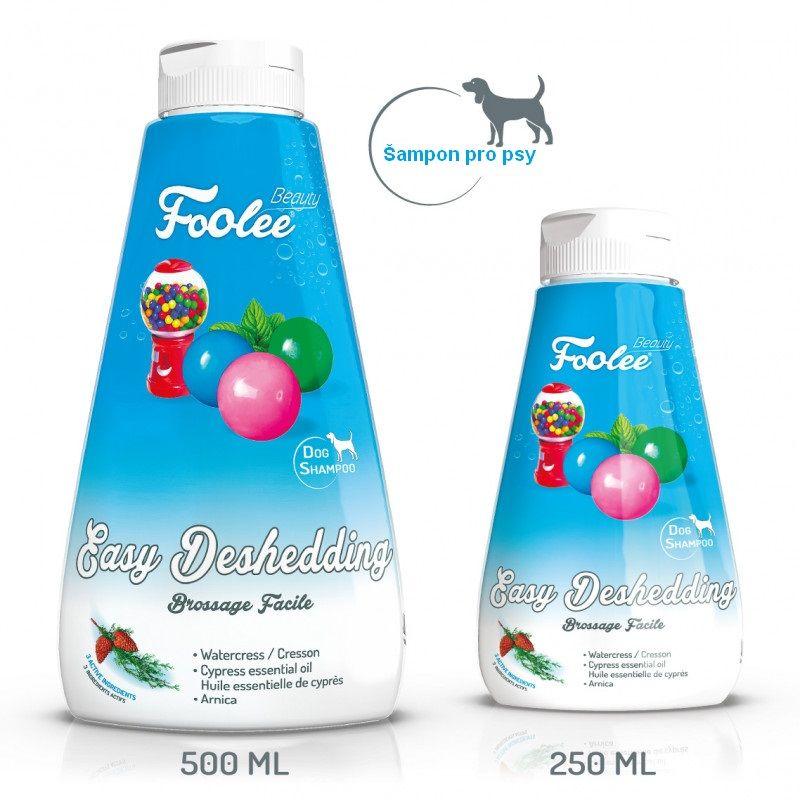 Šampon pro psy Foolee beauty Easy Deshedding pro vyčesávání vobdobí línání scypřišovým olejem Čistá pohoda
