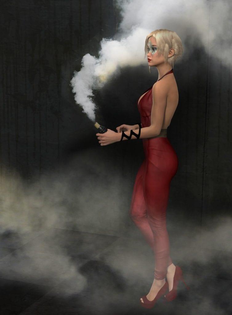 žena šaty nasáklé kouřem odstranění pachu cigaret