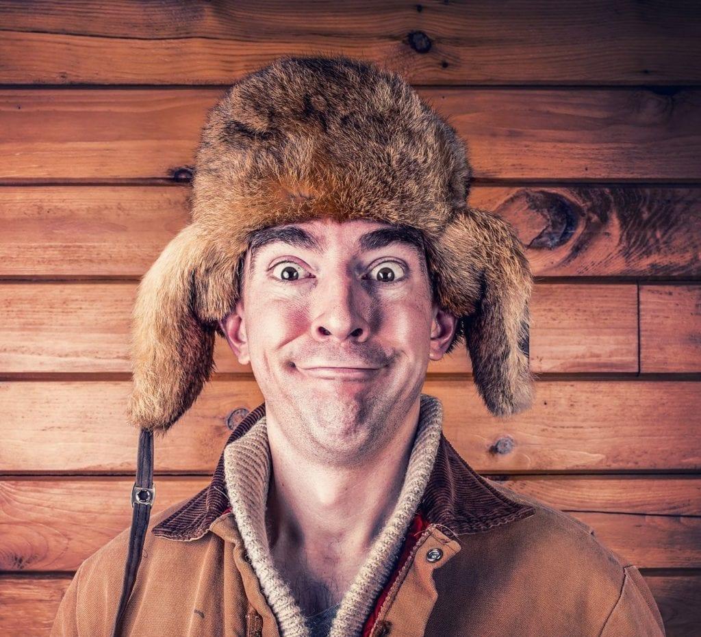 hlava šťastný muž Čistá pohoda