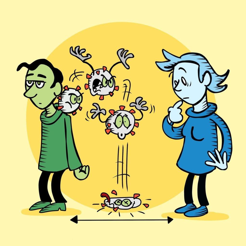 Udržení vzdálenosti při koronaviru
